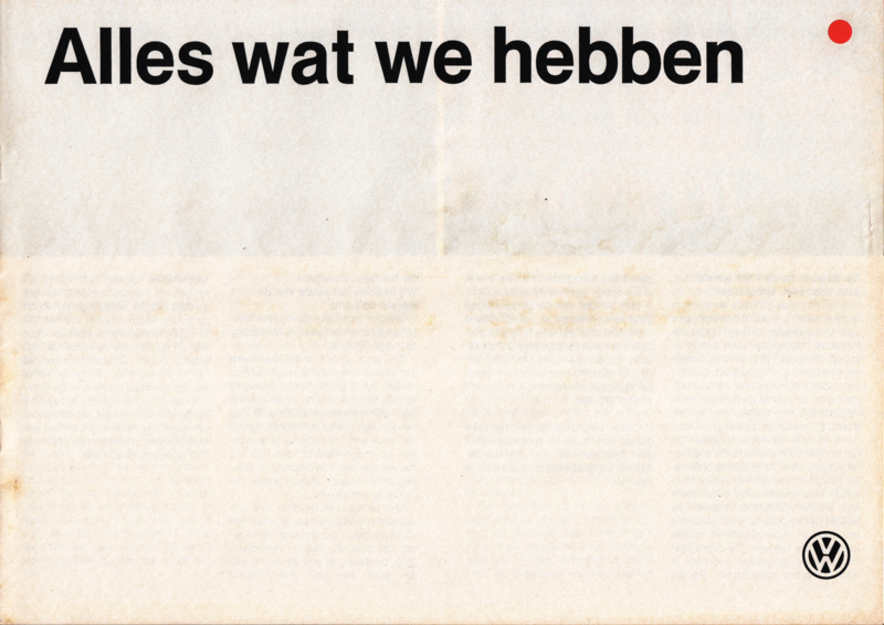 Program brochure, 12 pages,  A4-size, Dutch language, 02/1985