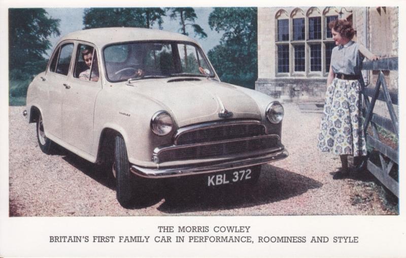 Cowley 4-door Sedan, standard size postcard, UK, early 1960s