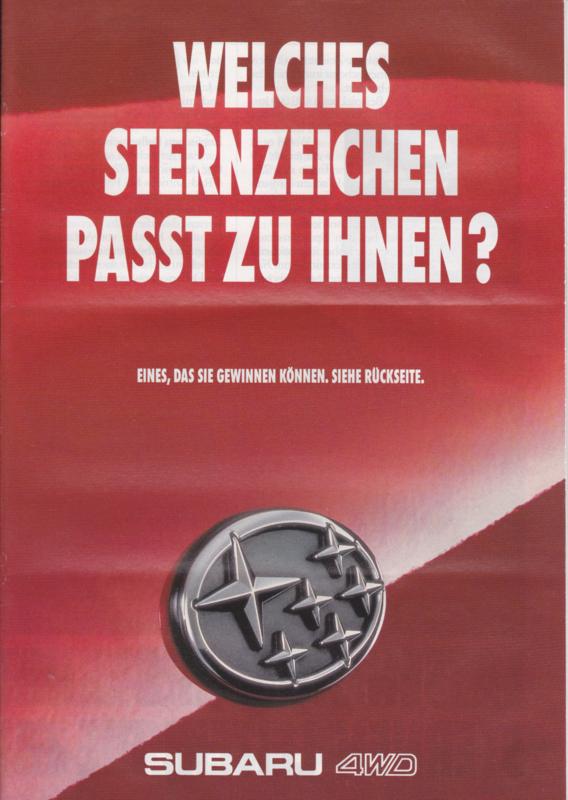 Program 4x4 brochure, 24 pages, German language, 03/1993, Switzerland