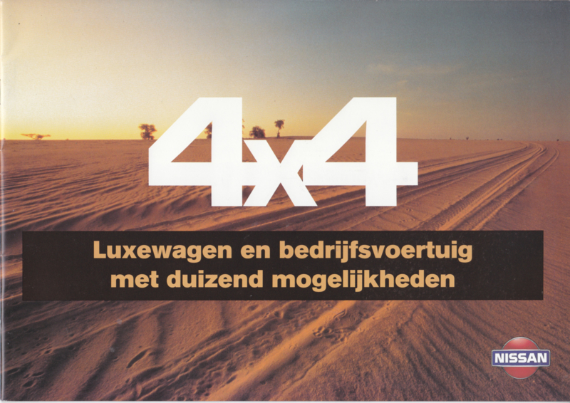 4x4 models & history brochure, 16 pages, 1995, Dutch language