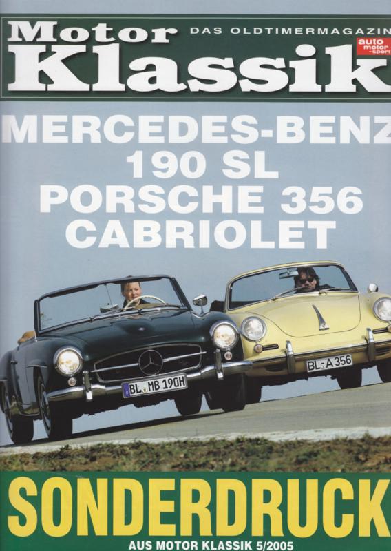 Cabriolet vs. Mercedes-Benz 190 SL reprinted roadtest, 10 pages, 5/2005, German language