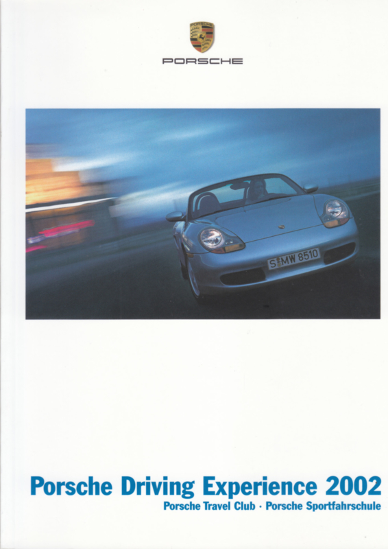 Driving Experience brochure, 106 pages, 2002, German language