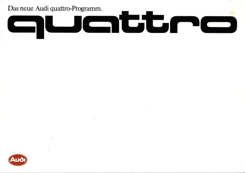 quattro Program brochure, 28 pages, 03/1985, German language