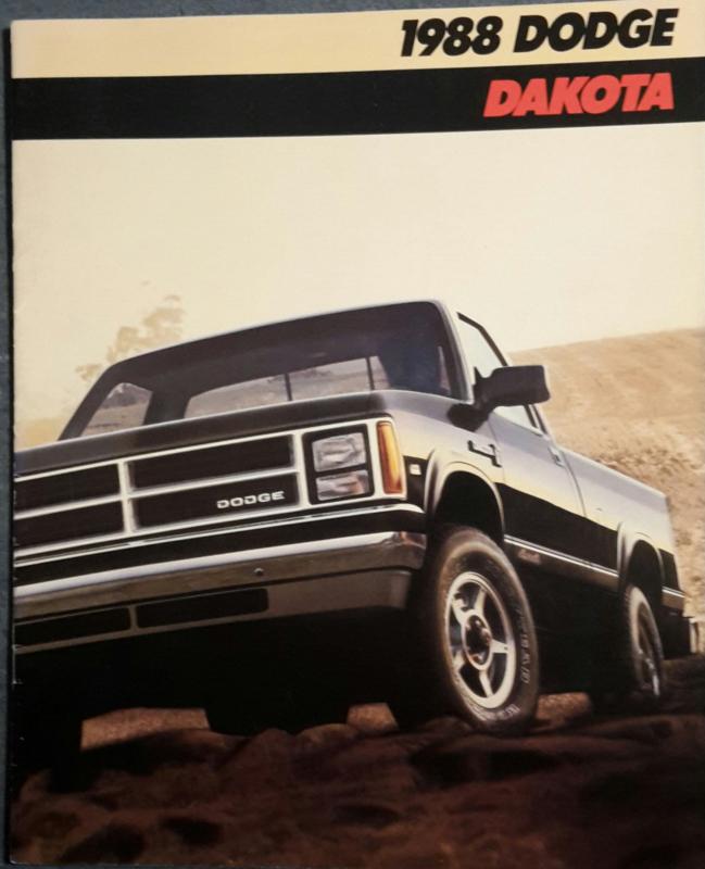 Dakota Pick-up brochure, 14 large pages, 1988, English language, USA