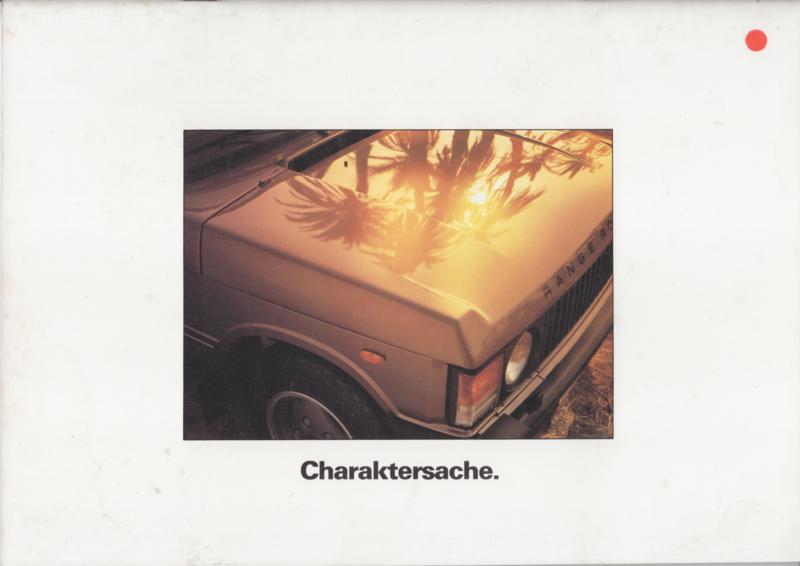 Range Rover brochure, 22 pages, A4-size, 4/1986, German language