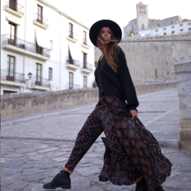 Wikkelrok met broek Ventana Zwart 8220803 – Black - Isla Ibiza Bonita
