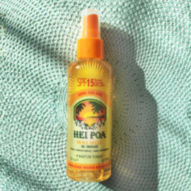 Sun oil SPF 15 Tiare spray - Hei Poa
