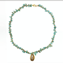 ketting Indy Kort Turquoise