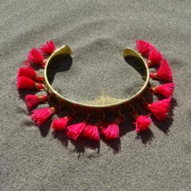 Cuff bracelet - Coral Pink - Toscana Pulseras