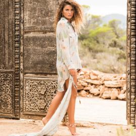 Blouse, Isla Ibiza- Mint Print