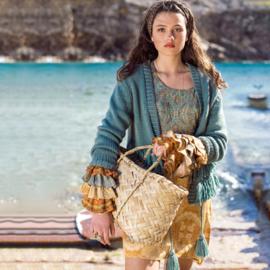 Gebreid Vest Franjes Isla Ibiza - Turquoise 8219305