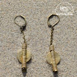 Brass Moon Long Dangle - By Callia