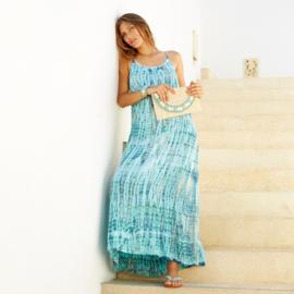 Dress Anna Tie Dye, Blue Moon - Hot Lava