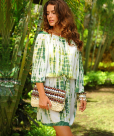 Dress Bibi Desert - Green, Hot Lava