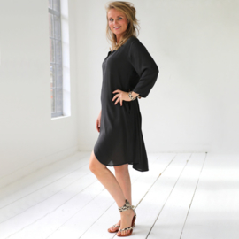 dress Verona, Charcoal- Karma by Hot Lava