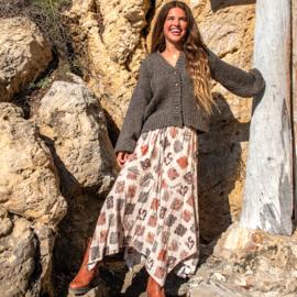 Maxi Skirt Bohemian khaki – Cream 8220815, Isla Ibiza Bonita
