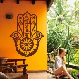 Muur decoratie - Hamsa hand - size L - Sand in my Shoes