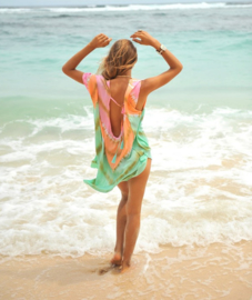 Poncho Low Back Tie Dye Hot Lava - Aloha