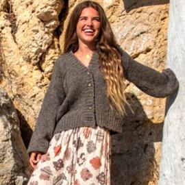 Gebreid Vest Bonita Bruin 8220305 - Isla Ibiza Bonita