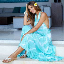 Dress Long Isis Sol, Azure - Hot Lava