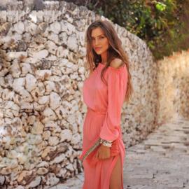 Skirt Bon Bini - Coral, Hot Lava