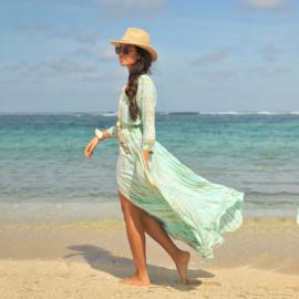 Dress Mila Moonstone, Sea mist - Hot Lava