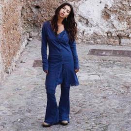 Tunic Long with Lace Isla Ibiza - Jeans bleu