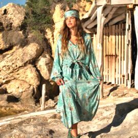 Isla Maxi Skirt All Over Printed – Turquoise 8220810, Isla Ibiza Bonita