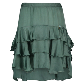 Skirt Ruches Isla Ibiza - Bottle Green
