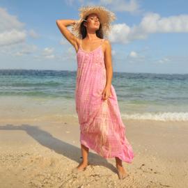 Maxi dress Anna Moonstone, Pink - Hot Lava