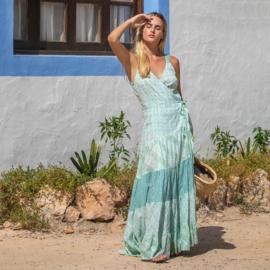 Maxi dress overslag Sea 8120724 - Isla Ibiza Bonita