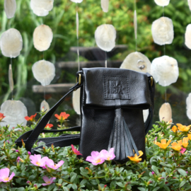 SMALL LEATHER BAG WITH TASSEL BLACK 8221919