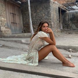 Maxi dress Bloesem Mint 8120728 - Isla Ibiza Bonita