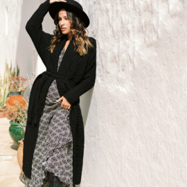 Maxi Knitted Cardigan Cosy – Black 8221309