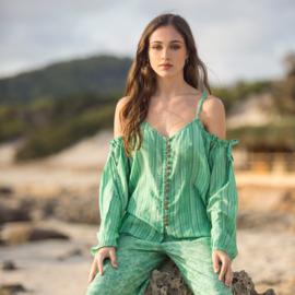 Blouse Strepen Isla IbizaBonita - Groen