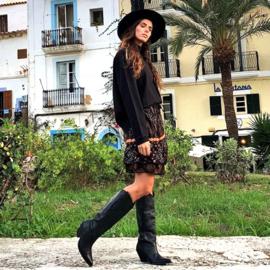 Kort Rokje Ventana Zwart 8220800 -Isla Ibiza Bonita