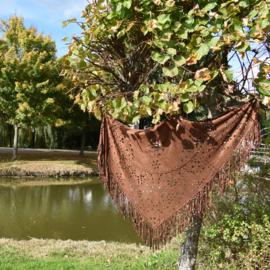 Bohemian sjaal - Dark Brown