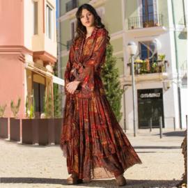 Maxi Rok Bohemian Fall Isla Ibiza - Indian Red 8219805 print 014
