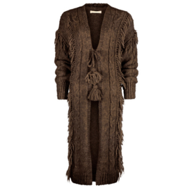 Long Knitted Cardigan Lola – Brown 8221308