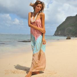 Maxi Dress Anna Tie Dye Hot Lava, Water Lily