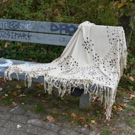 Bohemian sjaal stone/white