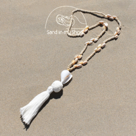 Necklace Long Wood Big Shell