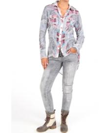 Jeans Trousers High Waist Isla Ibiza - Grey