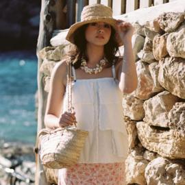 Top White Ruffle 8121705 - Isla Ibiza Bonita