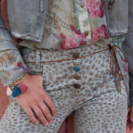 Jeans Trousers Leopard Isla Ibiza - Army
