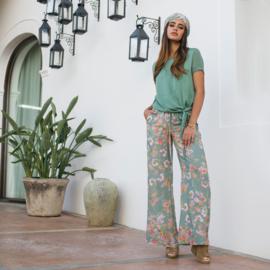 Trousers Vintage Flowers Isla Ibiza - Vintage Mint