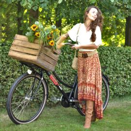 Skirt Rosalie, Yellow Rose - Hot Lava