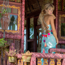 Dress Long Gypsy - Turquoise, Bali Sensasi