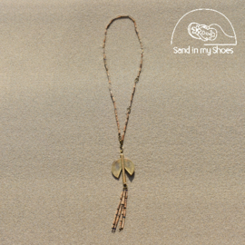 Large Phoenix BrassTassel Pendant With Termite Y Cord - By Callia