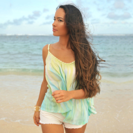 Top Anna Tie Dye, Papagayo -Hot Lava